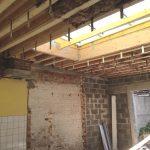 Structure toiture terrasse et suspentage plafond